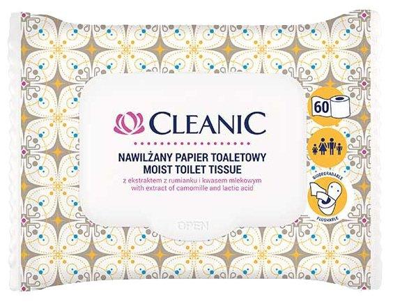 Салфетки влажные для интимной гигиены CLEANIC с экстрактом ромашки 10 шт