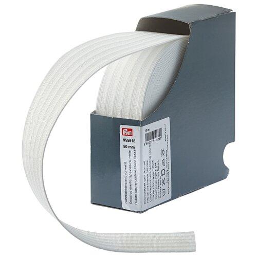 Prym Эластичная лента для уплотнения шва (955518), белый 5 см х 10 м prym эластичная лента мягкая 955351 белый 1 5 см х 10 м