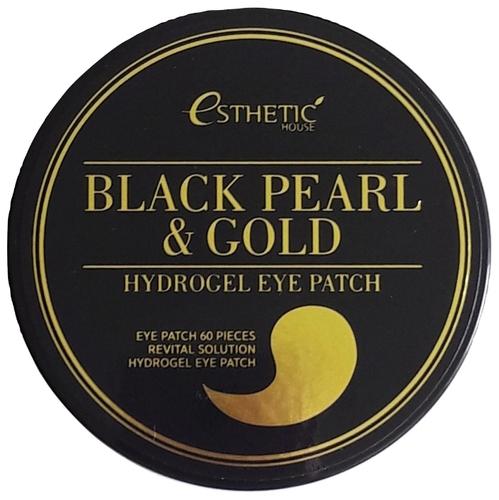 Esthetic House Гидрогелевые патчи для век с экстрактом чёрного жемчуга и золота Black Pearl & Gold Hydrogel Eye Patch
