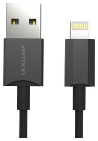 Кабель Vention USB - Lightning (VAI-C02) 1 м черный фото 1