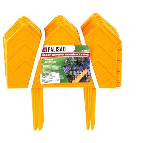 Бордюр PALISAD Кантри, желтый, 3.1 х 0.14 м