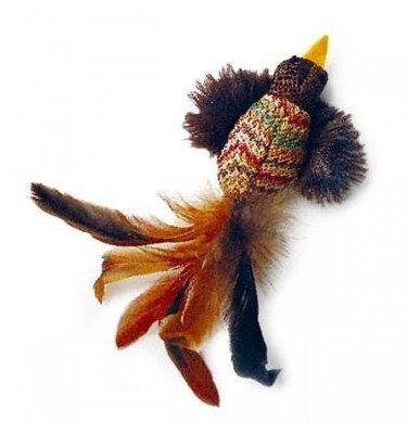 Игрушка для кошек GiGwi Cat Toys Птичка с перьями (75264)