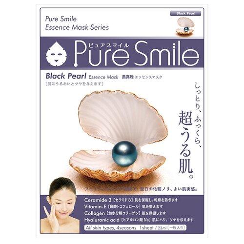 Sun Smile тканевая маска Pure smile Black pearl Essence с экстрактом черного жемчуга, 23 мл sun smile тканевая маска yogurt mask увлажняющая с экстрактом отрубей 23 мл