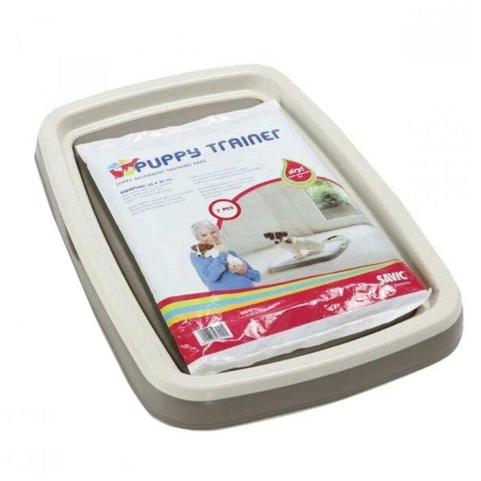 Туалет для щенков SAVIC Puppy Trainer Большой 60х48х4 см белый 1 шт. белый