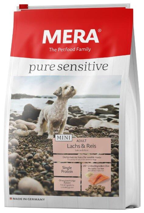 Корм для собак Mera Pure Sensitive Mini с лососем и рисом для взрослых собак