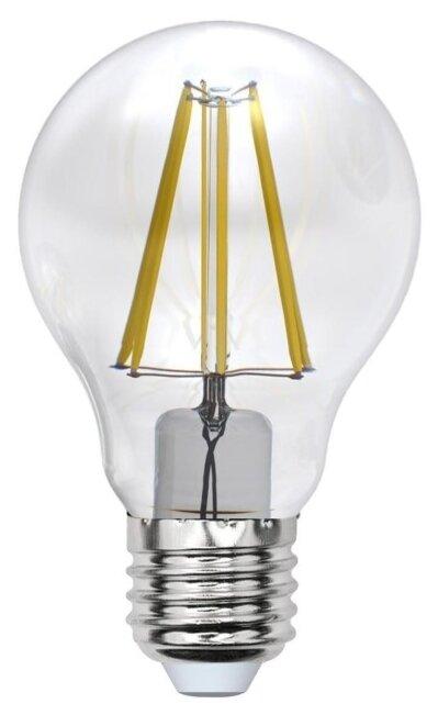 Светодиодная лампа Uniel PLS02WH А60, 8Вт, цоколь Е27, груша, прозрачная (UL-00001372)