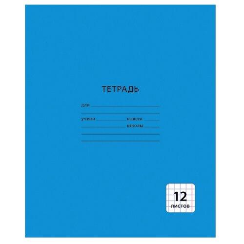Купить Канц-Эксмо Тетрадь, клетка, 12 л. синий, Тетради