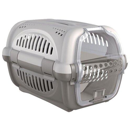 Клиппер-переноска для кошек и собак Georplast Rhino 35х51х33 см серый/темно-серый