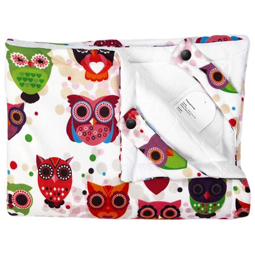 Купить Плед МиМиМи Совы 70х105 см разноцветный, Покрывала, подушки, одеяла