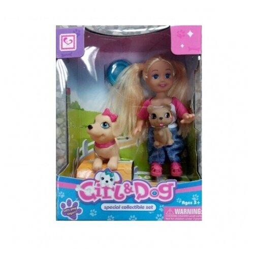 Кукла Shantou Gepai Girl & Dog 1512Z122