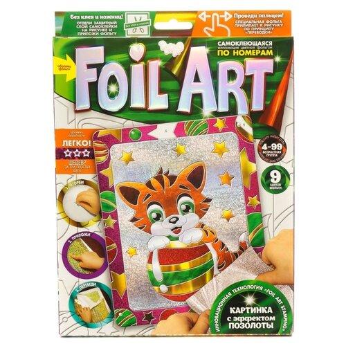 Danko Toys Аппликация цветной фольгой Foil Art по номерам Котенок (FAR-01-09)Поделки и аппликации<br>