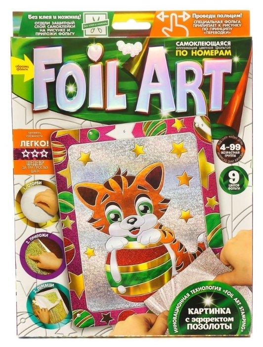 Danko Toys Аппликация цветной фольгой Foil Art по номерам Котенок (FAR-01-09)
