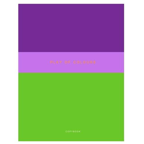 Купить Канц-Эксмо Тетрадь Неоновый дуэт клетка 48 л. зеленый/фиолетовый, Тетради