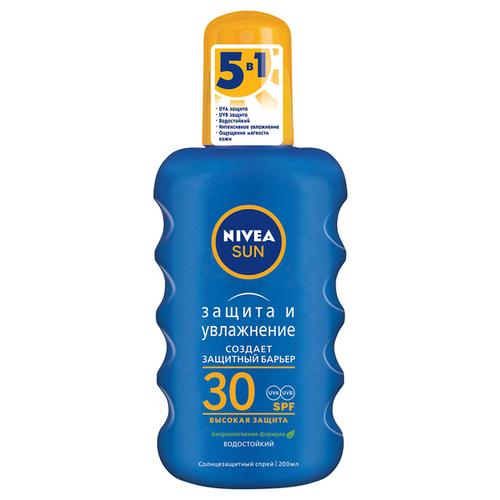 Фото - Nivea Солнцезащитный спрей Защита и увлажнение SPF 30 200 мл uriage bariesan солнцезащитный спрей spf 30 200 мл