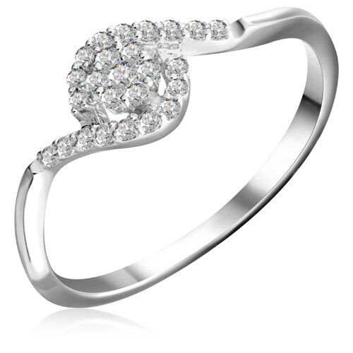 Бронницкий Ювелир Кольцо из белого золота R 62129, размер 16.5 кольцо из золота r 61902