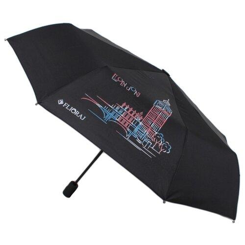 Зонт автомат FLIORAJ Модерн Лондон 210802 FJ черный
