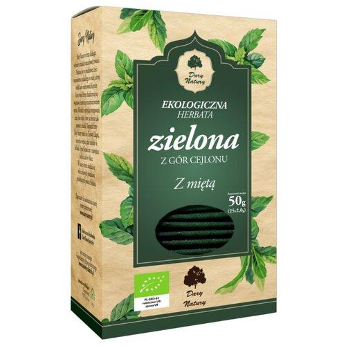 Чай зеленый Dary Natury Zielona z mi?ta в пакетиках, 25 шт.Чай<br>