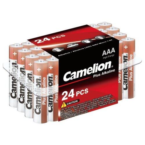 Батарейка Camelion Plus Alkaline AAA 24 шт блистер батарейка camelion green series aaa 4 шт блистер