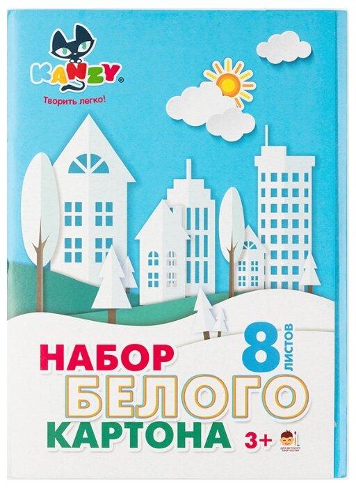 Набор белого картона А4 21 х 29.7 см 8 л. 1 цв. KNY 030501, от KANZY
