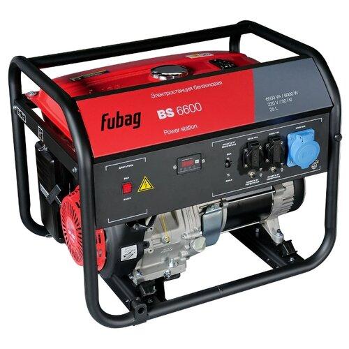 Бензиновый генератор Fubag BS 6600 (5700 Вт) бензиновый генератор fubag bs 6600 a es 6000 вт