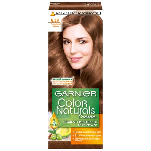 GARNIER Color Naturals стойкая питательная крем-краска для волос, 6.23, Перламутровый миндаль крем краска для волос indola color red