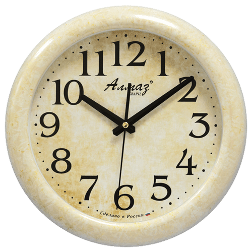 Часы настенные кварцевые Алмаз H30 бежевый