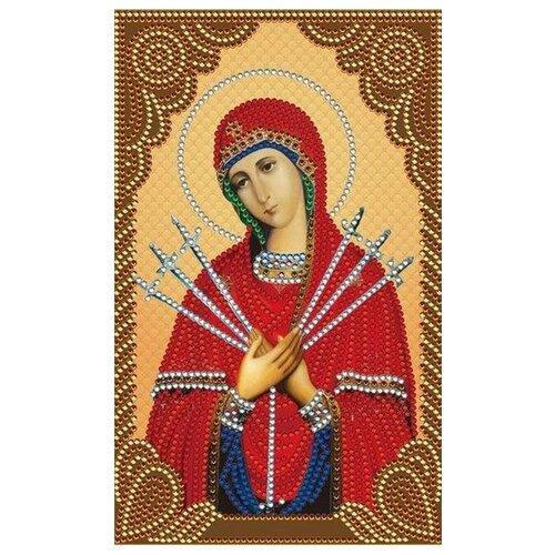 Алмазная живопись Набор алмазной вышивки Богородица Семистрельная (АЖ-5011) 22x28 см