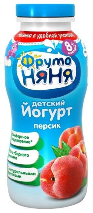 Йогурт питьевой ФрутоНяня с инулином персик (с 8-ми месяцев) 2.5%, 0.2 л
