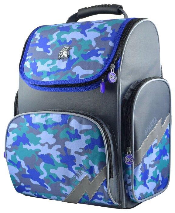 BG Рюкзак-ранец Right SPARTA SBR 4269 серый/голубой