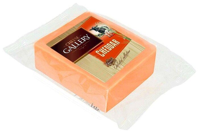 Сыр Cheese Gallery полутвердый cheddar красный кусковой 45%