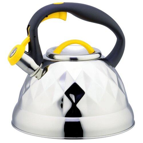 Bohmann Чайник со свистком BH-9917 3,2 л хром/черный/желтый чайник со свистком bohmann bhl 6