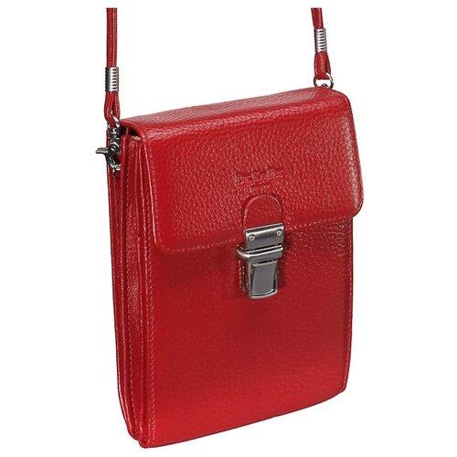 Нагрудный кошелек Dr.Koffer X510192-01, натуральная кожа красный кошелек reconds сompact натуральная кожа красный