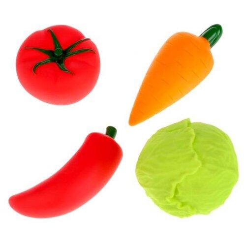 Купить Набор для ванной Играем вместе Овощи (LX-1705) красный/оранжевый/зеленый, Игрушки для ванной