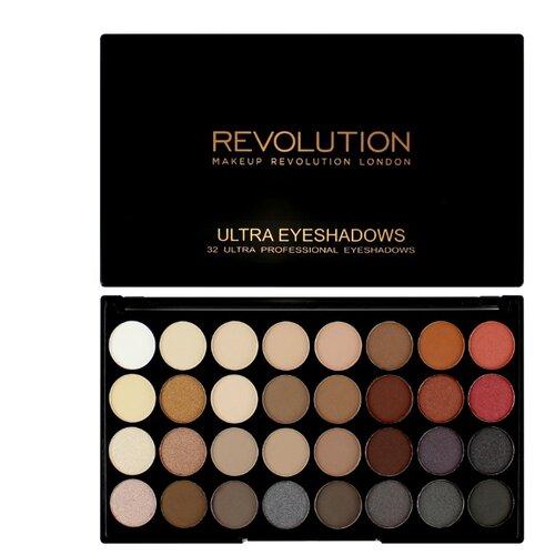 REVOLUTION Палетка теней Ultra 32 Eyeshadow Palette Flawless 2Тени<br>