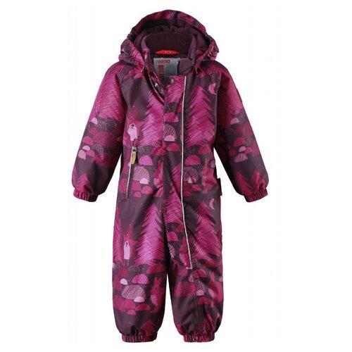 Купить Комбинезон Reima Puhuri 510306 размер 86, фиолетовый с рисунком, Теплые комбинезоны
