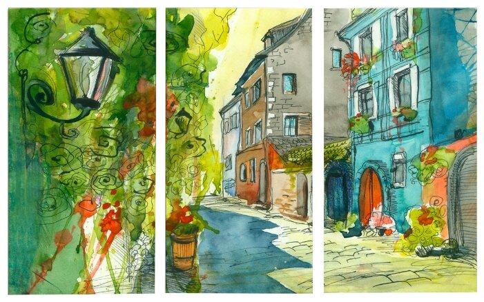 Модульная картина Картиномания Маленькая летняя улочка