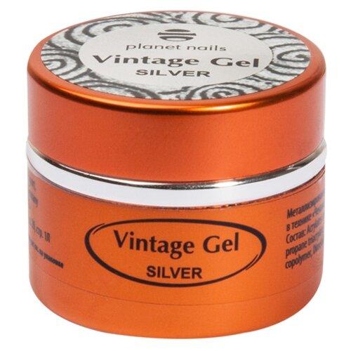 Паста planet nails Vintage Gel для чеканки silver паста planet nails paste gel серебряная