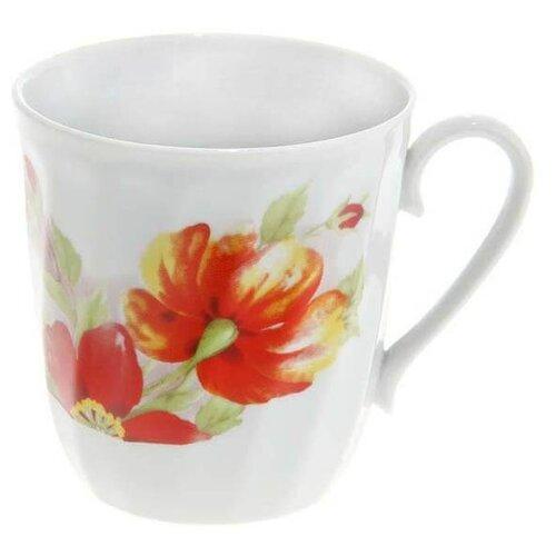 Дулёвский фарфор Кружка Рассвет Альпийские цветы 250 мл