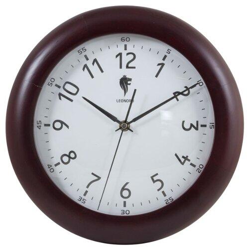 Часы настенные кварцевые LEONORD LC-67 темно-коричневыйЧасы настенные<br>