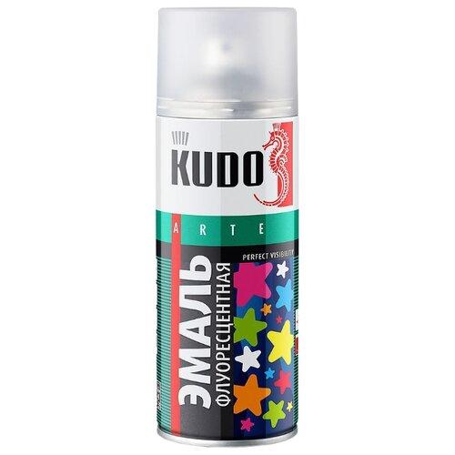 Эмаль KUDO флуоресцентная лимонно-желтый 520 мл