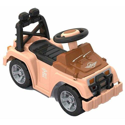Каталка-толокар Нордпласт Кочевник (431016) коричневый/черный каталка толокар orion toys мотоцикл 2 х колесный 501 зеленый