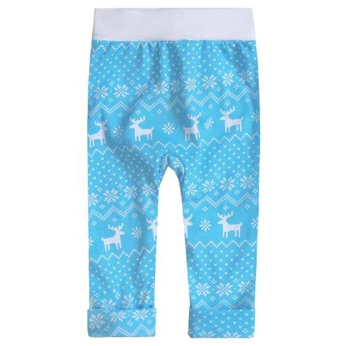 Купить Брюки KotMarKot Зимняя сказка 75808 размер 62, голубой/набивка, Брюки и шорты