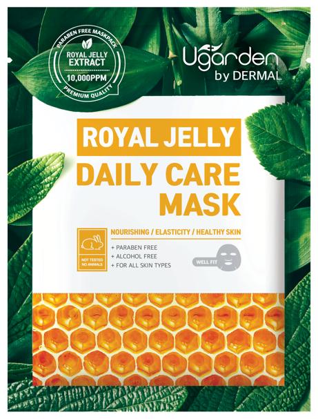 DERMAL Ugarden маска для лица с маточным молочком для ежедневного ухода