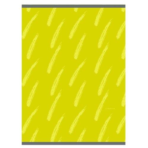 Купить Канц-Эксмо Тетрадь для конспектов в клетку, 48 л., Штрихи на желтом, Тетради