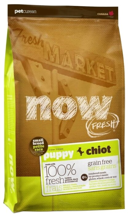 Корм для собак NOW FRESH Grain Free Small Breed Puppy Food Recipe