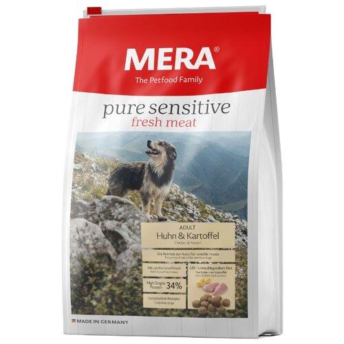 Корм для собак Mera (4 кг) Pure Sensitive Fresh Meat с курицей и картофелем для взрослых собакКорма для собак<br>