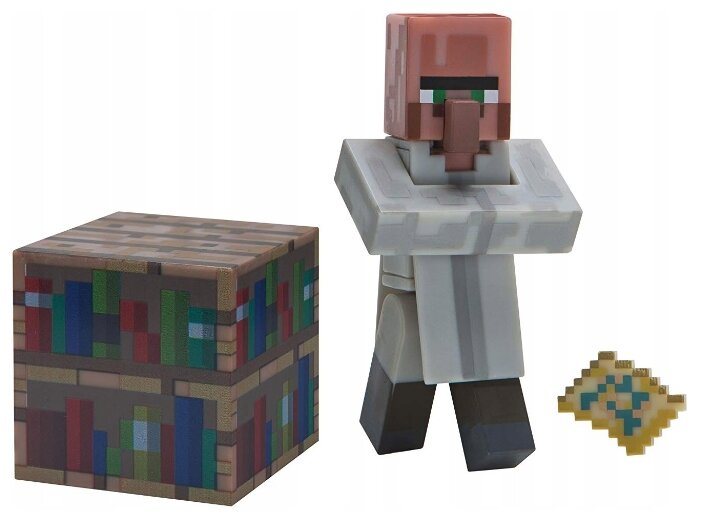Игровой набор Jazwares Minecraft Библиотекарь 16496