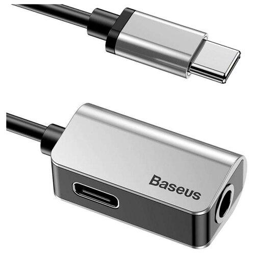 Переходник Baseus USB Type-C - USB Type-C/jack 3.5mm (L40) 0.12 м серебристыйКомпьютерные кабели, разъемы, переходники<br>