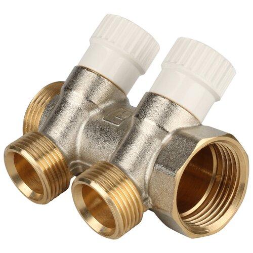 Коллектор проходной регулируемый STOUT (SMB 6851 013402) 1 НР-ВР, 2 отвода 3/4 евроконус