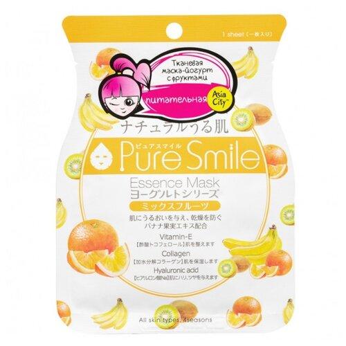 Sun Smile тканевая маска Pure smile Yogurt на йогуртовой основе с экстрактами фруктов, 23 мл sun smile тканевая маска yogurt mask увлажняющая с экстрактом отрубей 23 мл
